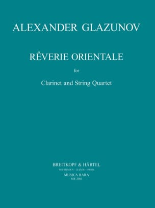 Alexandre Glazounov - Oriental Reverie - Clarinet String Quartet - Parts - Sheet Music - di-arezzo.com