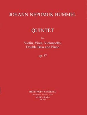 Quintet op. 87 -Partitur + Stimmen HUMMEL Partition laflutedepan