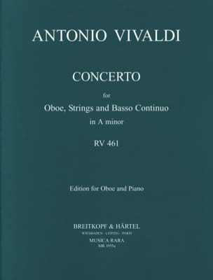 VIVALDI - Concerto in A minor RV 461 F. 7 n° 5 - Oboe piano - Partition - di-arezzo.fr