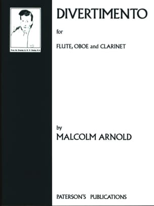 Malcolm Arnold - Divertimento - Flute oboe clarinet - Sheet Music - di-arezzo.co.uk