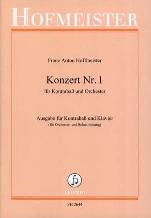 Franz Anton Hoffmeister - Kontrabass-Konzert n ° 1 - Sheet Music - di-arezzo.co.uk
