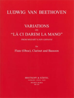 Variations on La ci darem la mano - Flute clarinet bassoon laflutedepan