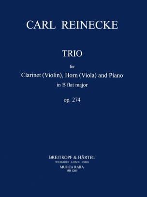 Carl Reinecke - Trio in B Flat op. 274 - Clarinet horn viola piano - Sheet Music - di-arezzo.com