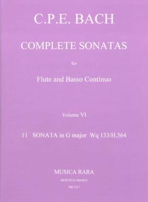 Carl Philipp Emanuel Bach - Complete sonatas Volume 6 - Flute Bc - Partition - di-arezzo.fr