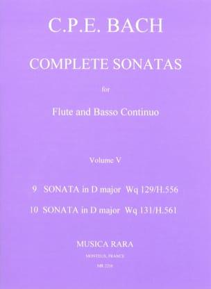 Complete sonatas Volume 5 - Flute Bc laflutedepan