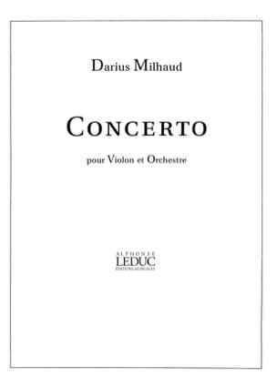 Concerto Violon - Darius Milhaud - Partition - laflutedepan.com