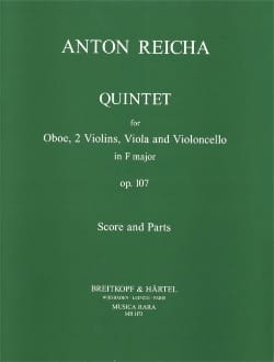 Quintet in F major op. 107 REICHA Partition Quintettes - laflutedepan