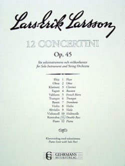 Lars-Erik Larsson - Concertino Double bass op. 45 n ° 11 - Sheet Music - di-arezzo.co.uk