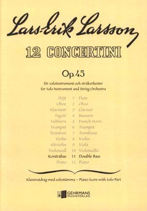 Lars-Erik Larsson - Concertino Contrebasse op. 45 n° 11 - Partition - di-arezzo.fr