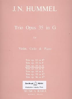 Johann Nepomuk Hummel - Trio op. 35 in G – Parts - Partition - di-arezzo.fr