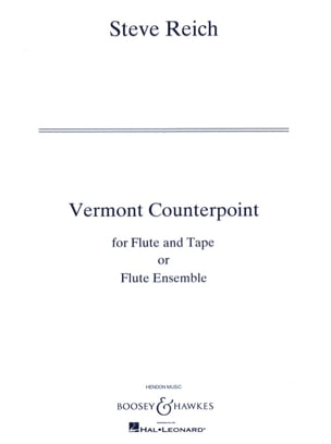 Steve Reich - Vermont Counterpoint - Full Score - Sheet Music - di-arezzo.co.uk