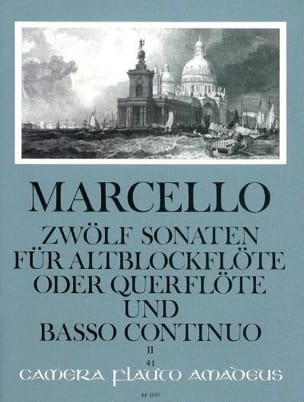 Benedetto Marcello - 12 Sonaten op. 2 - Bd. 2 - Altblockflöte Flöte und Bc - Sheet Music - di-arezzo.com