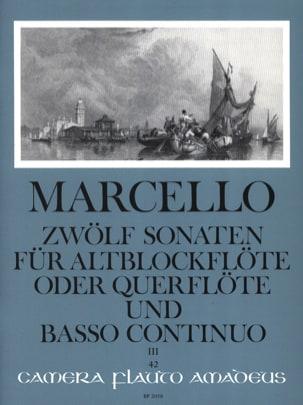 Benedetto Marcello - 12 Sonaten op. 2 - Bd. 3 - Altblockflöte u. Bc - Partition - di-arezzo.com