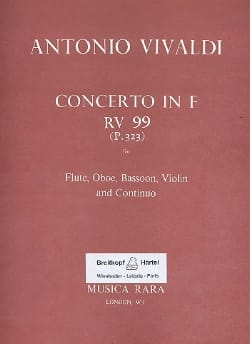 Concerto in F major RV 99 P. 323 - Flute oboe bassoon violin Bc laflutedepan