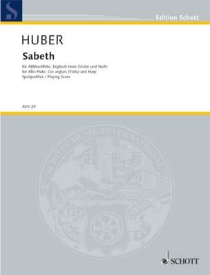 Klaus Huber - Sabeth - Trio Flûte En Sol-Cor Anglais-Harpe - Partition - di-arezzo.fr