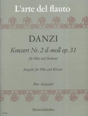 Franz Danzi - Concerto n° 2 d-moll op. 31 – Flöte Klavier - Partition - di-arezzo.fr