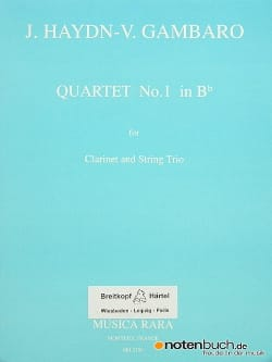 HAYDN - Quartet n°1 in Bb - Clarinet String trio - Partition - di-arezzo.fr