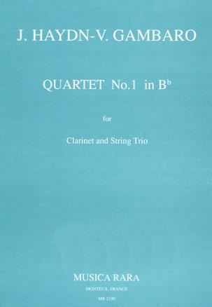 Quartet n°1 in Bb -Clarinet String trio HAYDN Partition laflutedepan