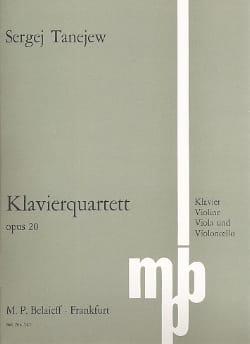 Klavierquartett op. 20 - Serge Taneiev - Partition - laflutedepan.com