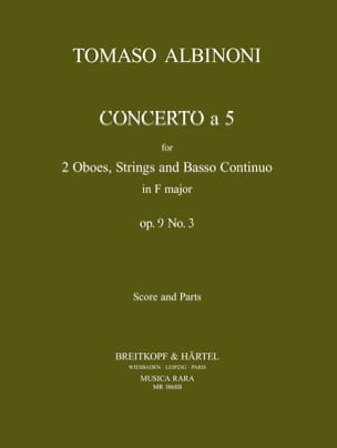 Tomaso Albinoni - Concerto a 5, op. 9 n ° 3 - Score parts - Sheet Music - di-arezzo.co.uk