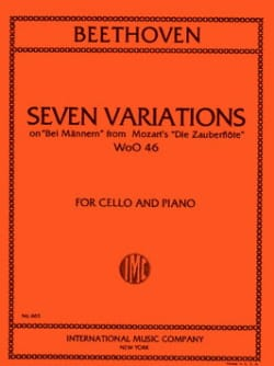 BEETHOVEN - 7 Variations - Partition - di-arezzo.fr