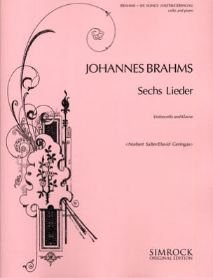 BRAHMS - 6 Lieder - Sheet Music - di-arezzo.co.uk