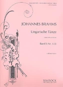 Danses Hongroises Volume 1 BRAHMS Partition Violoncelle - laflutedepan