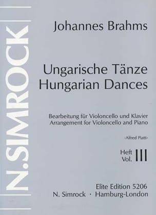 Johannes Brahms - Danses hongroises Volume 3 - Partition - di-arezzo.fr