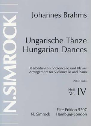Danses hongroises, Volume 4 BRAHMS Partition laflutedepan