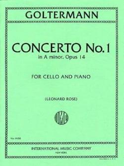 Georg Goltermann - Concerto n° 1 la mineur op. 14 - Partition - di-arezzo.fr