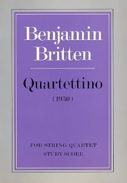 Quartettino - Score - BRITTEN - Partition - laflutedepan.com