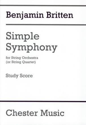 Simple Symphony - Conducteur BRITTEN Partition laflutedepan