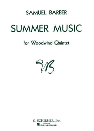 Samuel Barber - Summer Music op. 31 - Woodwind quintet - Score + Parts - Partition - di-arezzo.fr