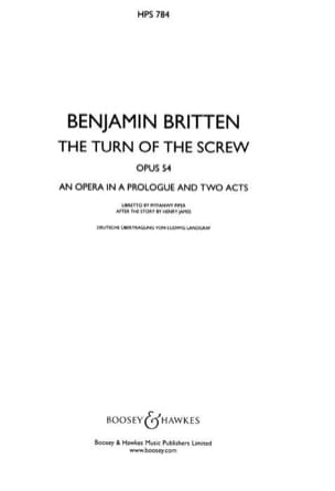 The Turn of the screw - Conducteur relié BRITTEN laflutedepan