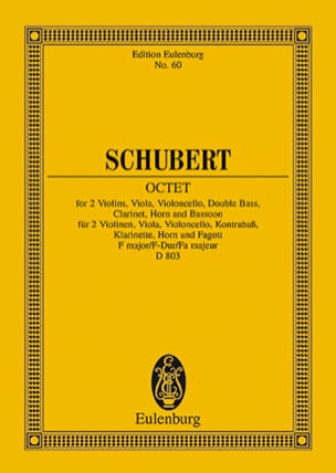 SCHUBERT - Octuor en Fa Majeur D. 803 Op. Posth 166 - Partition - di-arezzo.fr