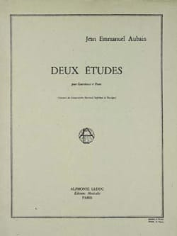 Jean Emmanuel Aubain - 2 Etudes for double bass - Sheet Music - di-arezzo.co.uk