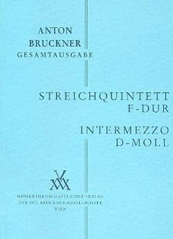 Anton Bruckner - Streichquintett F-Dur - Intermezzo d-moll - Partitur - Sheet Music - di-arezzo.co.uk