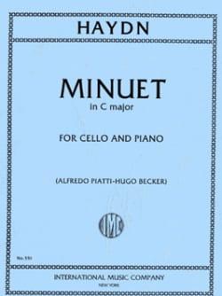 Minuet - HAYDN - Partition - Violoncelle - laflutedepan.com