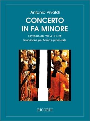 VIVALDI - Concerto en fa min. L'inverno - F. 1 n° 25 - Flûte/Piano - Partition - di-arezzo.fr