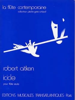Robert Aitken - Icicle - Flute alone - Sheet Music - di-arezzo.co.uk