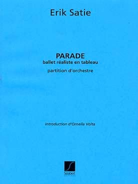 Erik Satie - Parade - Partition - di-arezzo.fr