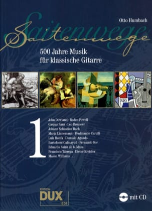 Otto Humbach - Saitenwege – 500 Jahre Musik Für Klassische Gitarre Vol 1 - Partition - di-arezzo.fr