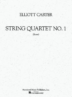String quartet n° 1 – Score - Elliott Carter - laflutedepan.com