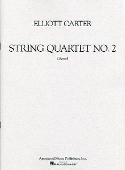 String quartet n° 2 - Score Elliott Carter Partition laflutedepan