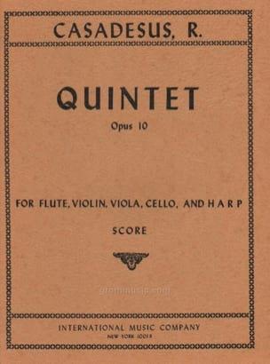 Robert Casadesus - Quintet op. 10 – Score - Partition - di-arezzo.fr