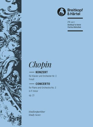 CHOPIN - Concerto for Piano and Orchestra No. 2, Opus 21, in F Minor - Sheet Music - di-arezzo.co.uk