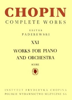CHOPIN - Complete Works Volume 21 - Piano And Orchestra - Sheet Music - di-arezzo.co.uk