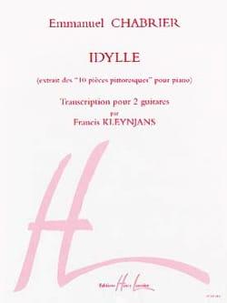 Idylle -2 guitares Chabrier Emmanuel / Kleynjans Francis laflutedepan