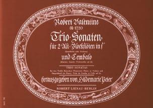 Robert Valentine - Trio Sonaten –2 Altblockflöten in f' Cembalo - Partition - di-arezzo.fr