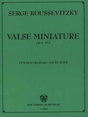 Serge Koussevitzky - Miniature waltz op. 1 n ° 2 - Sheet Music - di-arezzo.co.uk
